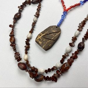 Jewelry - set of 3 handmade necklaces coffee beans coconut